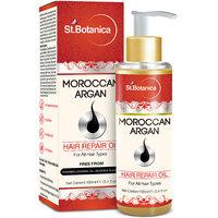 St.Botanica Moroccan Argan Hair Repair Oil - 100ml - For All Hair Types  Beard With Vitamin E