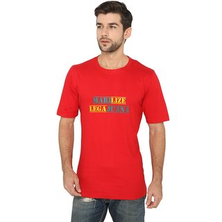 FABNAVITAS  - Marilize Tee - Red Cotton Printed T-shirt