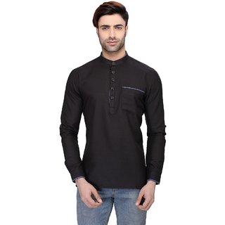 RG Designers Men's Full Sleeve Short kurta AVSONAPOCKET-BLUE