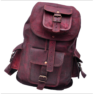 Buy Comfort 18 inch Pure Tan Leather Backpacks Bag for men and women ... ea2638eeba2e8