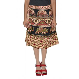Gurukripa Shopee Printed Women's Wrap Around Skirts GSKWCK-A0292