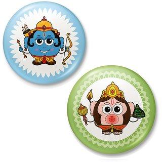 Lord Ram n Hanuman Designer Fridge Magnet Combo 420