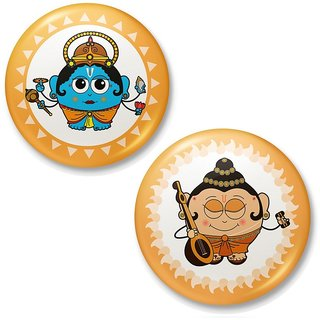 Lord Vishnu n Messenger Man Narad Fridge Magnet 421