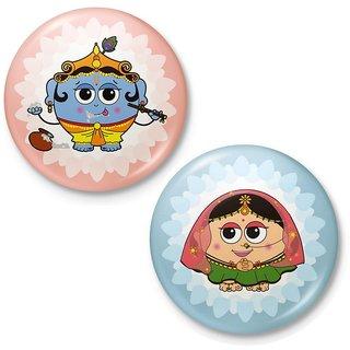 Lord Krishna n Radha Devi Fridge Magnet Combo Gift 422
