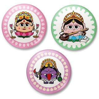 Maa Saraswati Kali n Laxmi Fridge Toy Magnet Combo 424