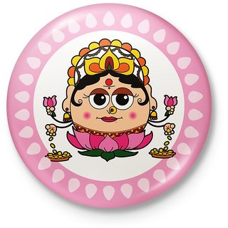 Goddess Laxmi Inspired Decorative Fridge Magnet 123