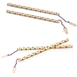 Golden Meenakari Ethnic Navratri Couple Dandiya 1032