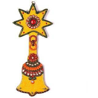 Wooden Kundan Meenakari Aarty Bell Key Stand 325