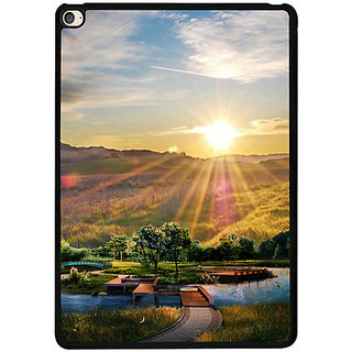 Casotec 3D Landscape Design 2D Printed Hard Back Case Cover for Apple iPad Air 2