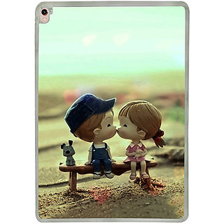 Casotec Love Couples Pattern Design 2D Printed Hard Back Case Cover for Apple iPad Pro 9.7