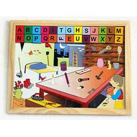 Baby Flocks Magnetic Tray Alphabet Attic – Educational Wooden Toy