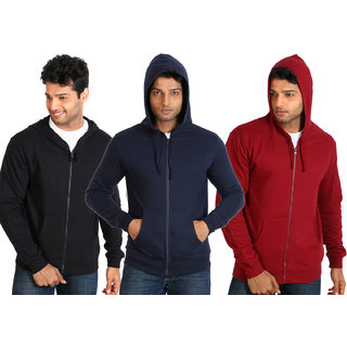 Campus Sutra Black Zipped Men Hooded Sweatshirt Option 7