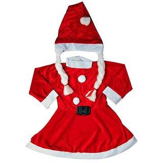 Santa Girl Frock Premium 4-6 yrs