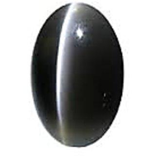 7.25 ratti Black cat's eye stone lab Certified