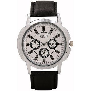 Zion  Analog White Dial Men'S Watch -Dna-Zw-010
