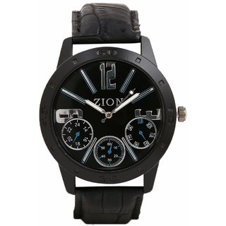 Zion Analog Black Dial Men'S Watch -Dna-Zw-033