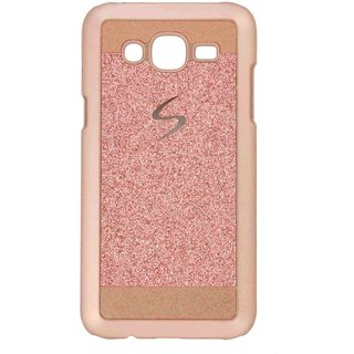 Cantra Glitter Sparkle Hard Back Cover For Samsung Galaxy J7 - Rose Gold