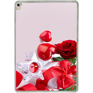 Casotec Valentines Day Gift Candle Heart Couple Rose Design 2D Printed Hard Back Case Cover for Apple iPad Pro 9.7