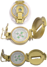 Magnetic Compass Works Lensatic Brass Finish Compass