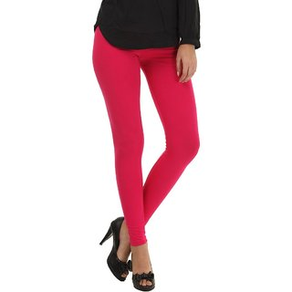 Stylobby Pink Cotton Lycra Plain Legging