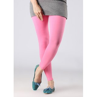 Stylobby Baby Pink Cotton Lycra Leggings