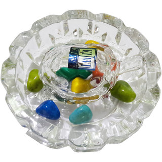 Crystal Tortoise Turtle With Plate For Vastu Feng Shui 5 Inches