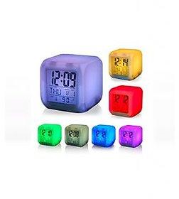 7 LED Color Changing Digital Desk Clock