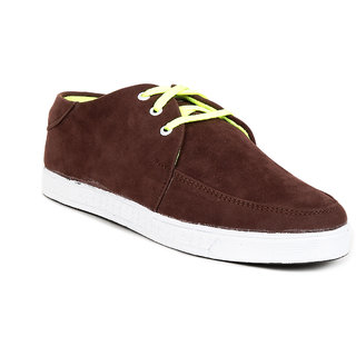 Golden Sparrow Brown Neon Casual Shoes