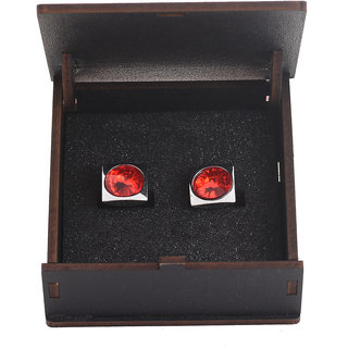 Harvest Red Party Wear Cufflinks for Men