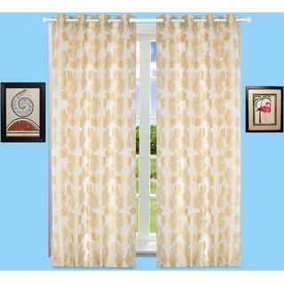 Window Curtain Jacquard Floral Design White Bh62X7W