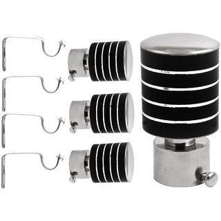 Hans Black Stainless Steel Curtain Bracket-Set of 2 (SD-90)