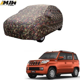 JMJW AND SONS - Heavy Duty Double Stiching Car Body Cover For Mahindra Tuv 300 -  (With Side Mirror Pockets)