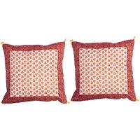 Gurukripa Shopee  Multi Colour Floral Embroidered Cushion Cover 2 Pc. Set - CUSGKS202