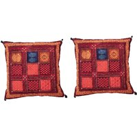 Gurukripa Shopee Traditional Bagru Design Cushion Cover 2 Pc. Set - CUSGKS203
