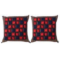 Gurukripa Shopee Jaipuri Bagru Print Design Cushion Cover 2 Pc. Set - CUSGKS204