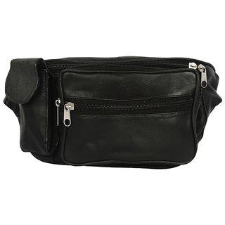 Redix Black Leather Waist Pouch BG-001