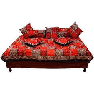 Gurukripa Shpee Jaipuri Bagru Print Pure Cotton Diwan BedSet DWSGKS103
