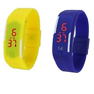 New combo of two band watches for men blue yellow