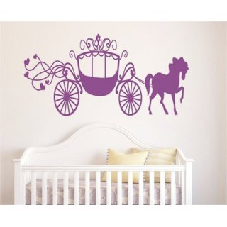 Amazing Princess Horse Carriage Sticker Vinyl Sticker for Wall Window  Car # 13