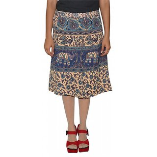 Gurukripa Shopee Printed Women's Wrap Around Skirts GSKWCK-A0295