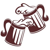 Beer Mugs Wall Stickers Vinyl Decals Home Decor Drawing / Bedroom # 20