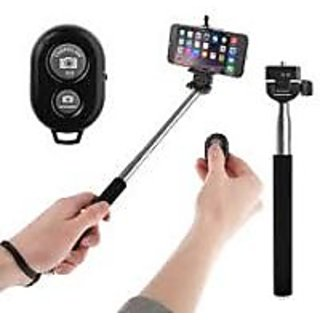 Monopods Selfie Stick With Bluetooth Remote