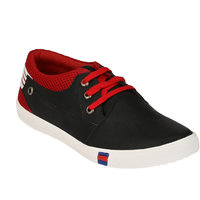 Footstamp Black Casual Lace Up Shoes