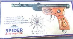 Spider Air Gun Wooden Free 200 Pellets 1 Cover