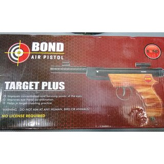 bond target plus air gun wooden/metal free 200 pellets double head