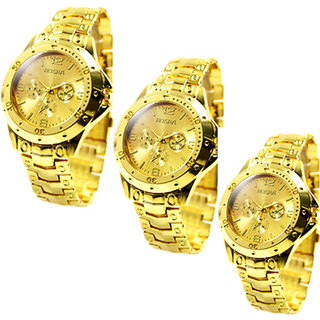 Rosra New Collection pack of 3 Analog Watches - For Boys, 02GGG