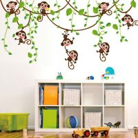 Cartoon Monkey Children Wall Sticker Removable DIY Wall Sticker