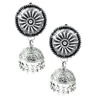 Factorywala Trendy Brass Oxidised Fashion Earring for Girls/Womens