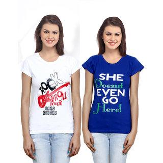 IndiWeaves Women Cotton T-Shirt Combo-2