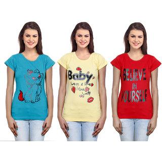 IndiWeaves Women  Cotton T-Shirt Combo-3